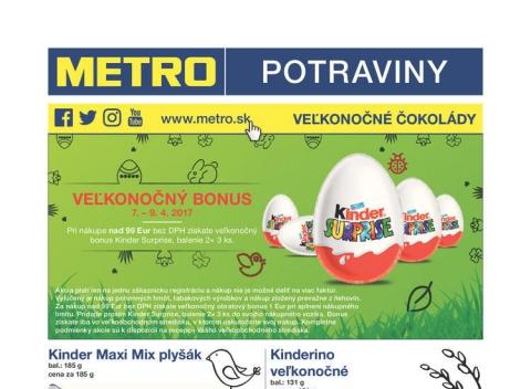METRO - Veľkonočné čokolády