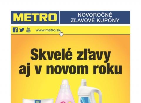 Metro - Novoročné kupóny