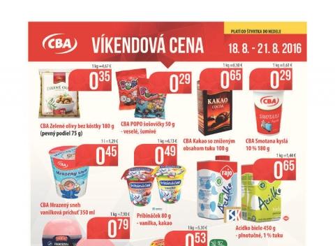 CBA - Víkendová cena