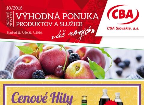 CBA - Výhodná ponuka