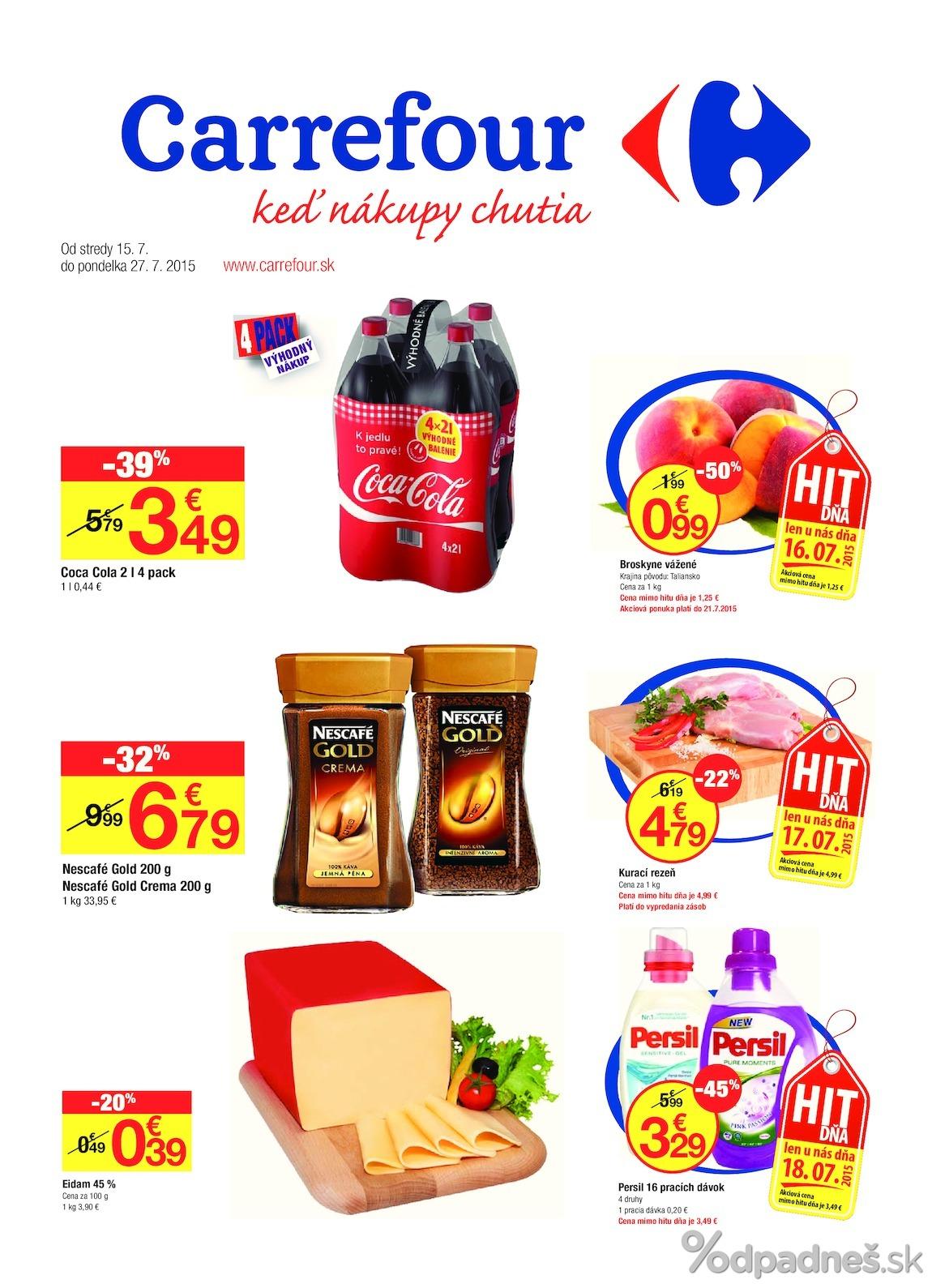 1. stránka Carrefour letáku