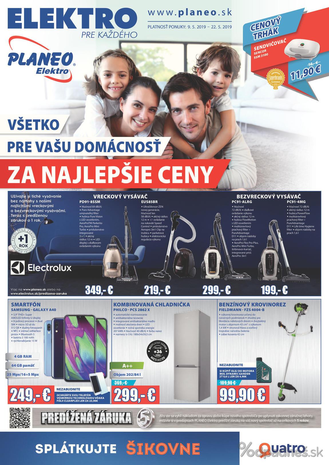 eb143b6810336 Planeo Elektro leták platný do 22.5.2019 | Letákovo.sk