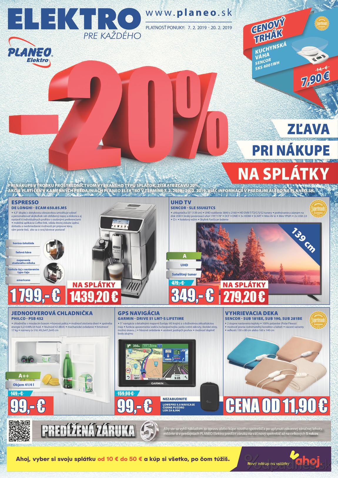 332502e03 Planeo Elektro leták platný do 20.2.2019   Letákovo.sk