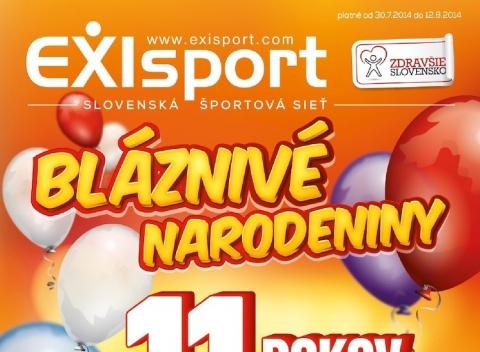 Exi sport - Leták August 2014