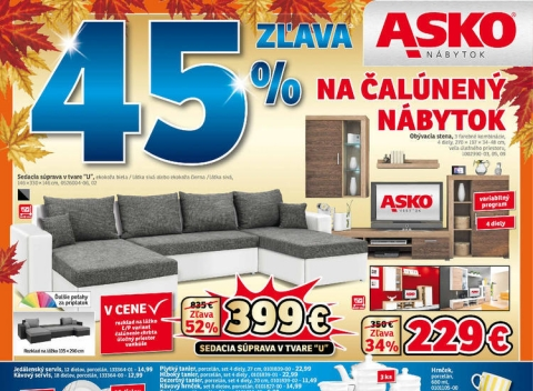 Asko nábytok - Bratislava, Košice, Nitra, Trenčín