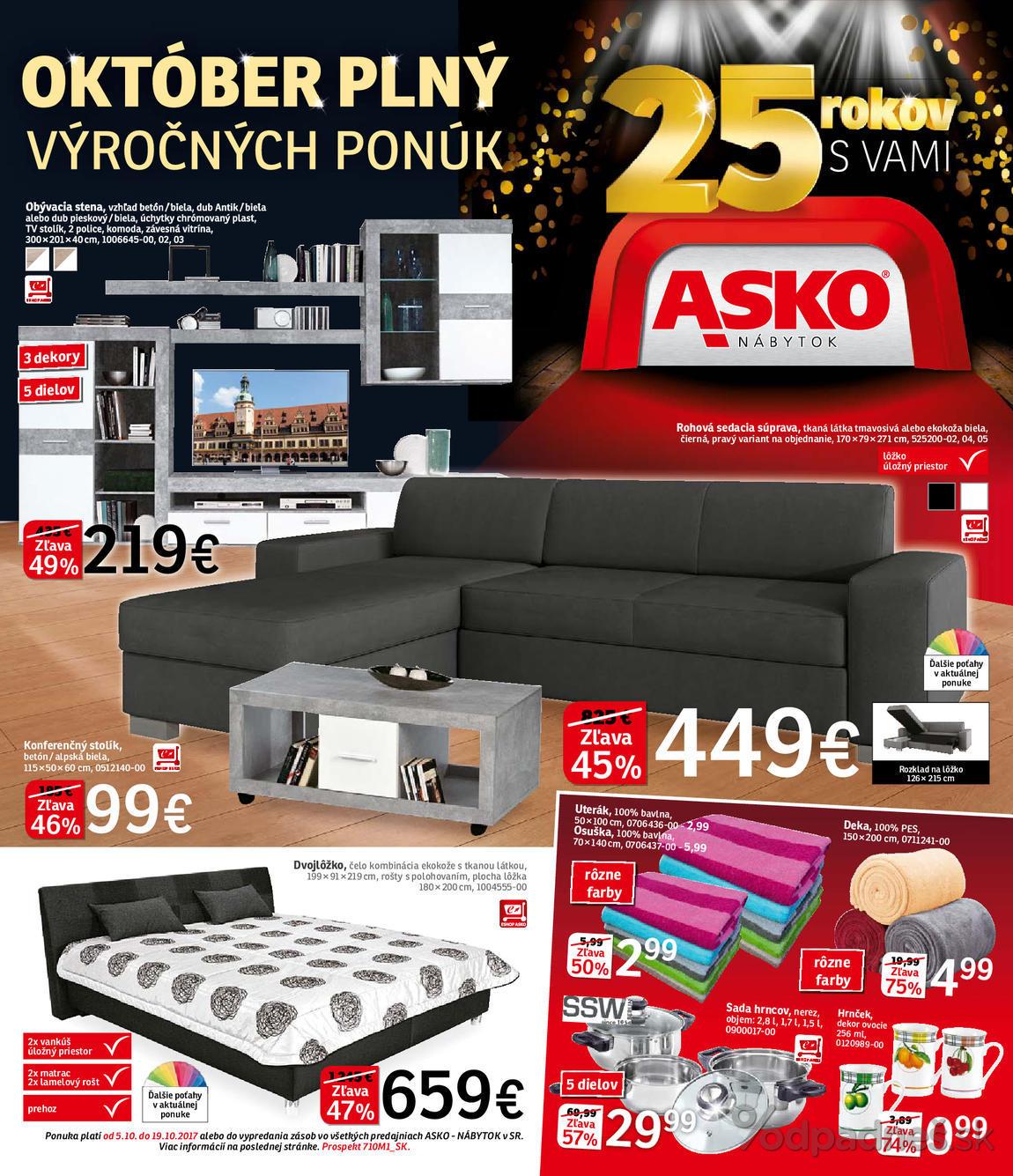 1. stránka Asko nábytok letáku
