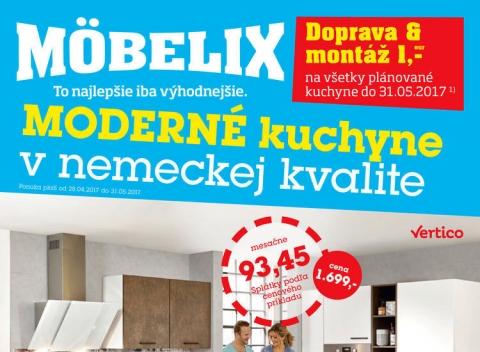 Mobelix - Bratislava, Nitra, Trenčín, Prešov a Košice