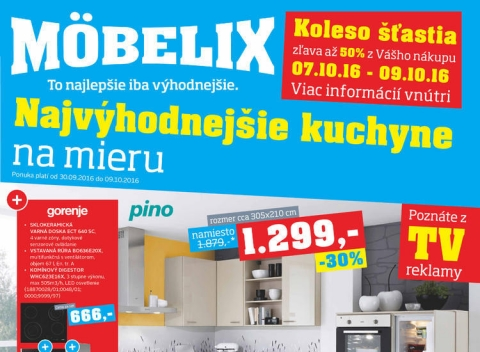 Mobelix - Banská Bystrica, Košice, Prešov