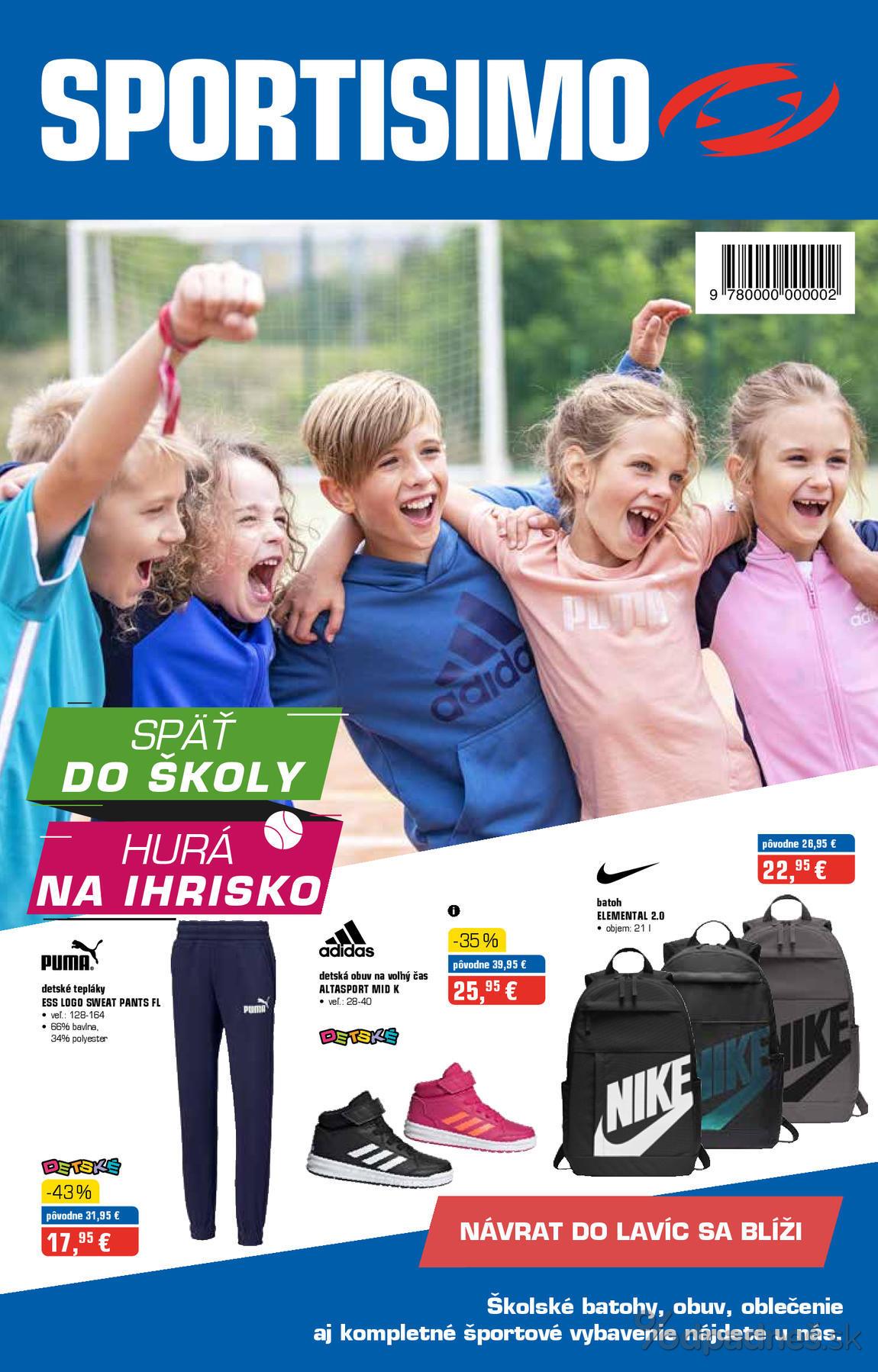 1. stránka Sportisimo letáku