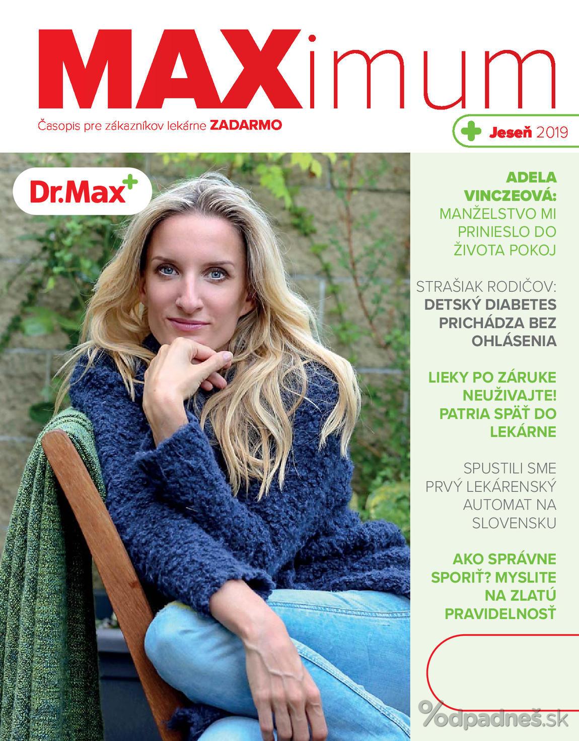 1. stránka Dr. Max letáku