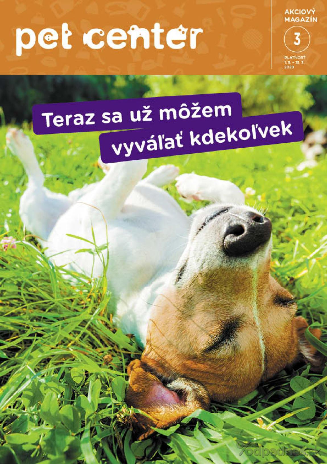 1. stránka Pet Center letáku