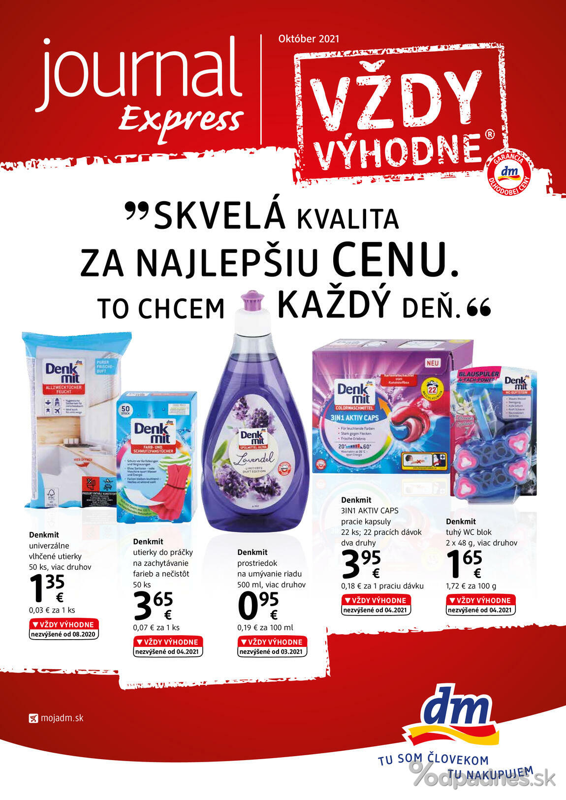 1. stránka dm drogerie markt letáku