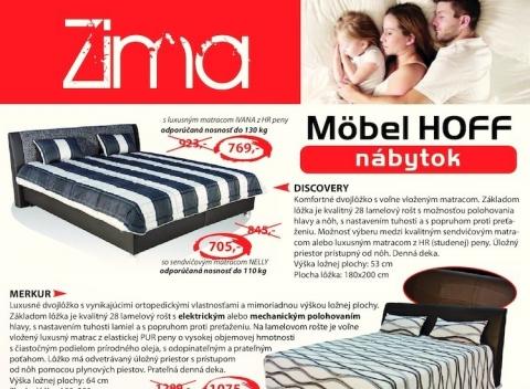 Möbel Hoff - Čalúnené postele