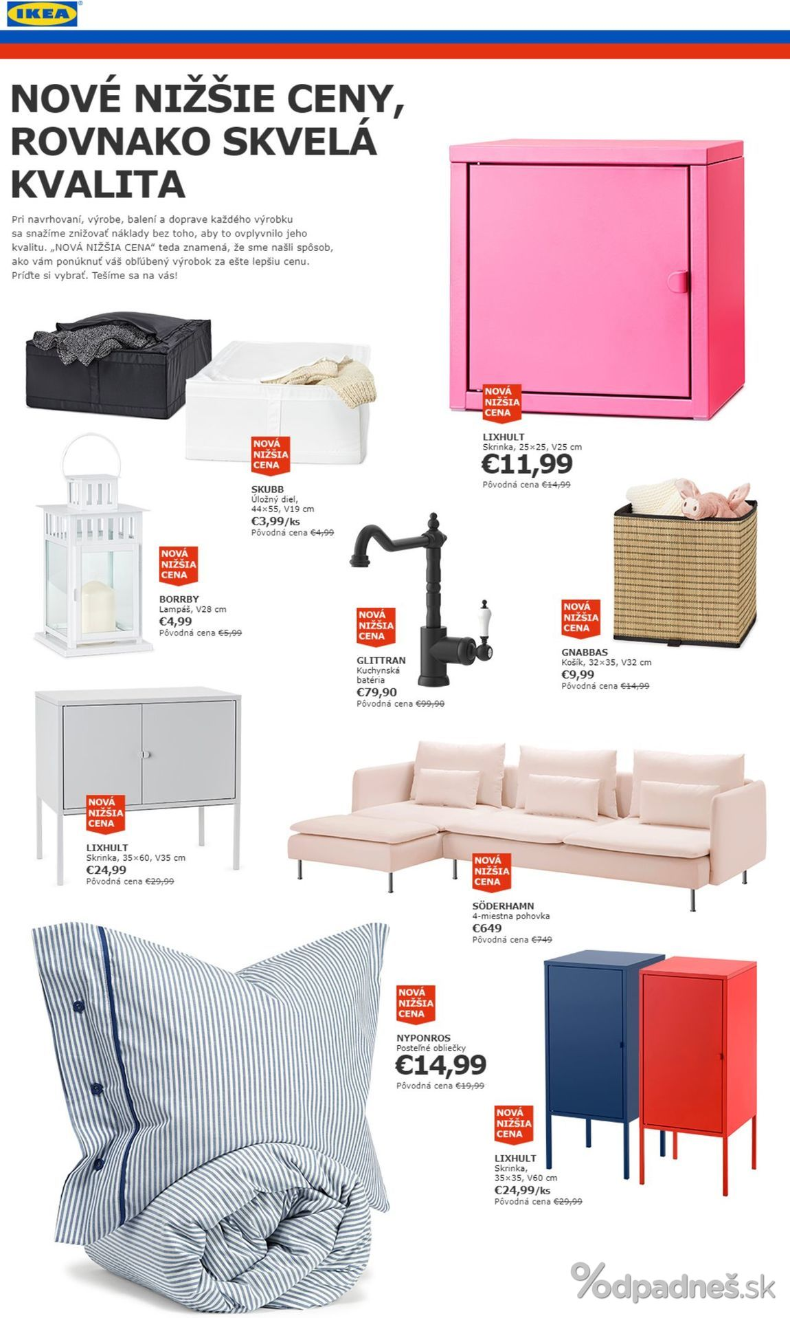 1. stránka Ikea letáku