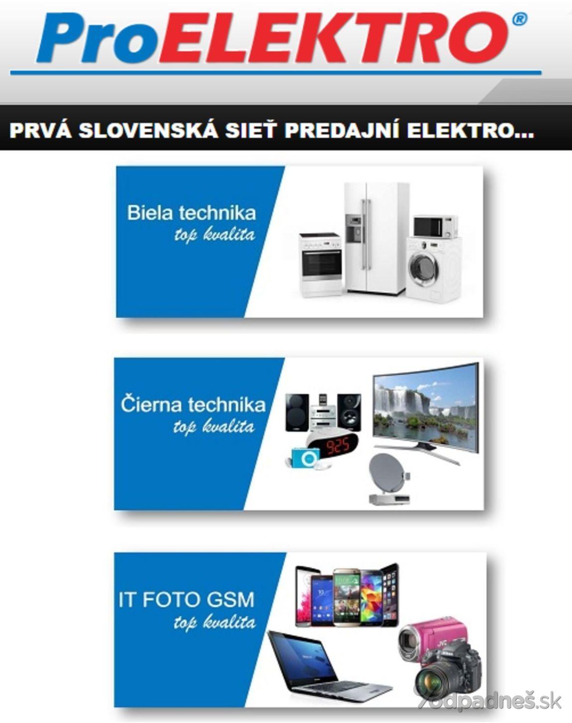 195c5ea32ca04 Pro Elektro leták platný do 30.9.2018 | Letákovo.sk