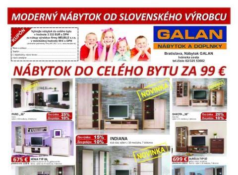 Nábytok Galan - Akcia