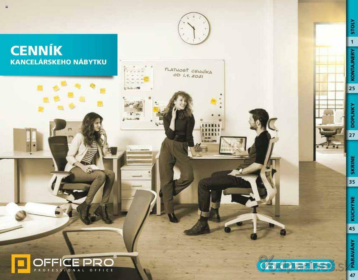 1. stránka Office Pro letáku