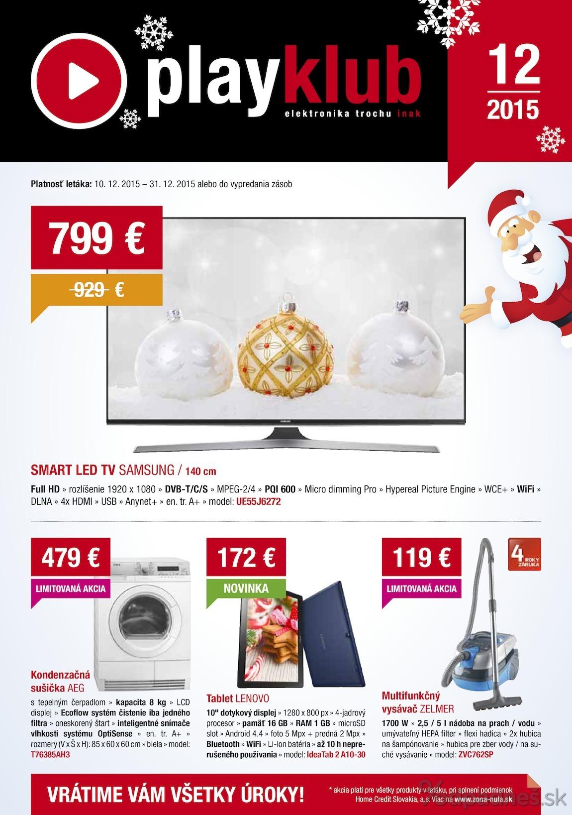 adf6b5f46 Playklub leták platný do 31.12.2015 | Letákovo.sk