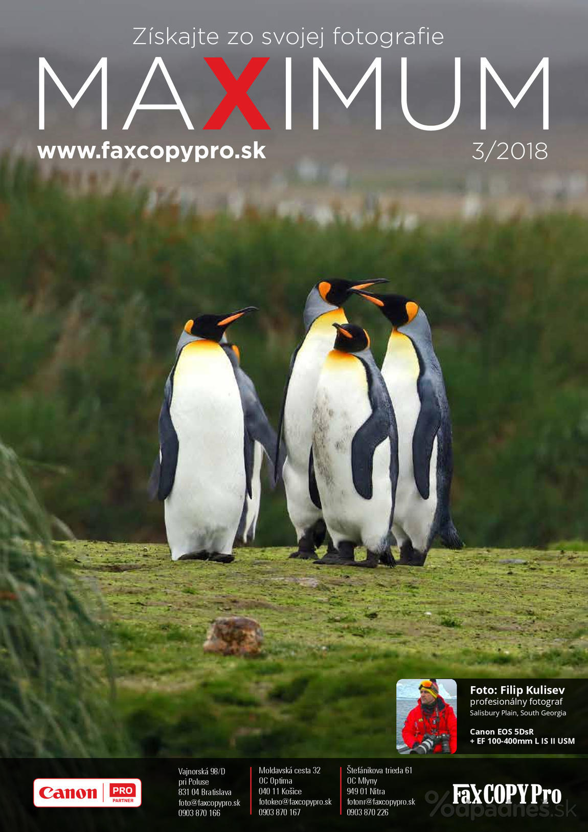 1. stránka Faxcopy letáku