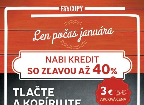 Faxcopy - Nabi Kredit so zľavou 40%